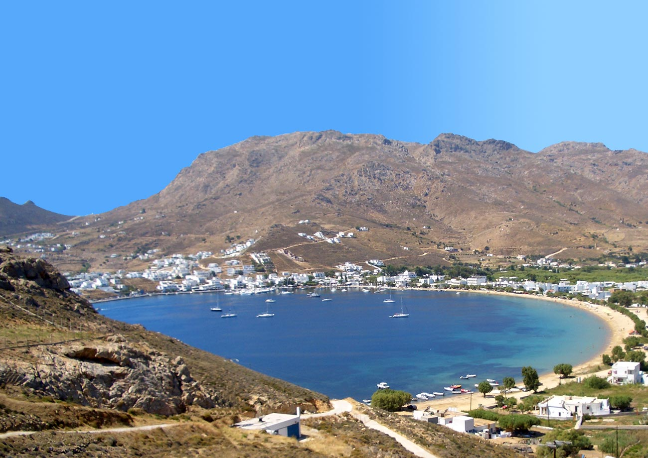 General view of Livadi Serifos Greece